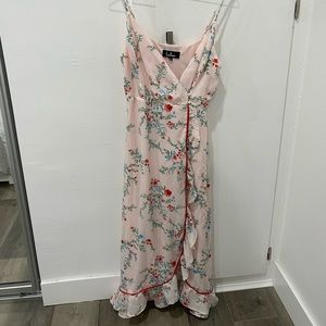 floral midi dress from lulus